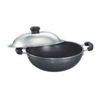 Prestige Omega Select Plus Round Base Kadai 200 mm with SS Lid