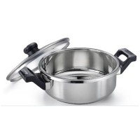 Clip on Stainless Steel 3 ltr pressure cookware with Glass lid ladle holder