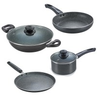 Prestige Omega Deluxe Granite 4 pc Cookware set
