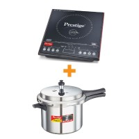 Induction Cook Top PIC 3.1 V3 With Automatic Whistle counter and Popular Plus Pressure Cookers 5 Litre Combo