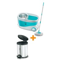 Prestige Clean home magic Spin mop 7L PSB 10 With Dust Bin Flip Bin PFBP 3.0 Special Combo Offer