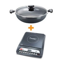 Prestige Induction Cook Top PIC 20.0 With HA Signature Kadai 300 mm with Lid Special Combo Offer