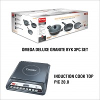 Omega Deluxe Granite BYK 3PC Set with Induction PIC 20.0 Combo