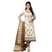 Crepe Print Unstitched Salwar Suit Set Churidar Material FS269