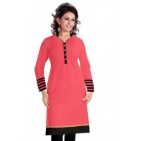 Cotton Pink Colored Fabulous Kurti Churidar Material FS235