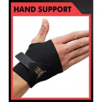 Omtex Elastic Hand Support / Thumb Support (Free Size, Black)