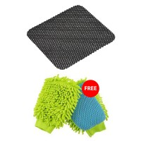Buy Anti Slip Mat for Car Dashboard Get Micro Fiber Washing Gloves FREE
