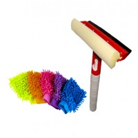 Cleaner with Micro Fiber Washing or Cleaning Gloves Special Combo Pack