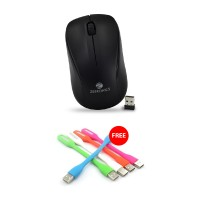 Buy Zebronics Wireless Mouse Ride Get USB Led Light FREE