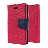 Lenovo A 6000 Flip Cover Case Mercury Goospery Fancy Diary Wallet  Red-Black