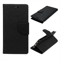 Flip Cover Case for VIVO V5 Mercury Goospery Fancy Diary Wallet Black