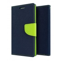 Mercury Goospery Fancy Diary Wallet Flip Cover Case for VIVO Y51 Blue Green