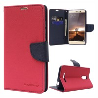 Mi Redmi Note 4 Flip Cover Case Mercury Fancy Diary Wallet  Red-Black
