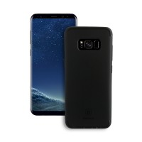 Samsung Galaxy S8 Back Cover Slim Matte Finish Rubberized Black Hard Back Case Cover Dust Proof