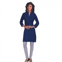 Womens Semistiched Cotton Kurti 3182