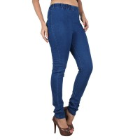 Lady Blue Denim Lycra Jeggings FS254