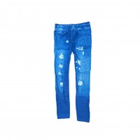 Womens Sexy Denim Jeans Look Leggings Jeggings Skinny Pants 0356