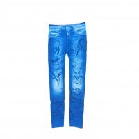 Womens Sexy Denim Jeans Look Leggings Jeggings Skinny Pants 0357