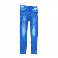 Womens Sexy Denim Jeans Look Leggings Jeggings Skinny Pants 0360