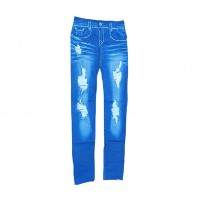 Womens Sexy Denim Jeans Look Leggings Jeggings Skinny Pants 0362