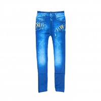 Womens Sexy Denim Jeans Look Leggings Jeggings Skinny Pants 0363
