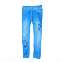 Womens Sexy Denim Jeans Look Leggings Jeggings Skinny Pants 0364