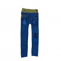 Womens Sexy Denim Jeans Look Leggings Jeggings Skinny Pants 0366