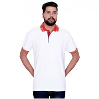 T-Shirt London Looks Polo Neck White Medium Size