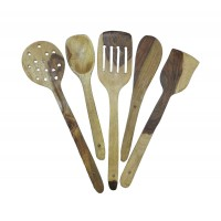 Cooking and Serving Spoon-Wooden Set of 5
