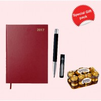 New Year Gift Pack Diary 2017- Parker Pen and Sweet Box