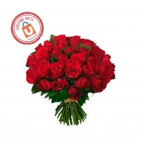 100 Red Roses Surprise Gift
