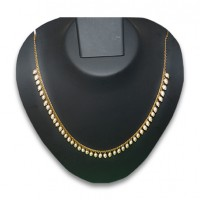 Pearl & gold plated necklace P12