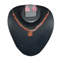 Red Stone necklace FS027
