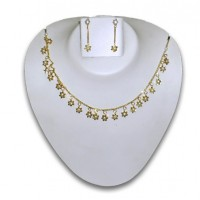 Pearl & gold plated necklace P1