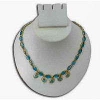 Glass beaded necklace -B1