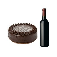 1 Kg Chocolate Cake and Non Alcoholic Red Wine