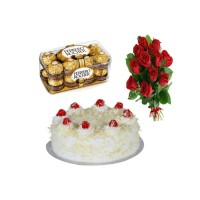 Ferrero rocher,White Forest and Rose Bunch Pack