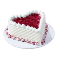 2 KG Heart Shape Red Velvet Cake