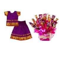 Pattu Pavada & Chocolate Gift Box