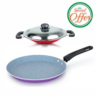Impex Marble Coated Tawa Pan and Nonstick Appachatty Special Combo Offer