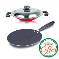 Impex Concave Tawa Pan with Nonstick Appachatty Special Combo Offer