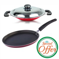 Impex Nonstick Tawa Pan 26 cm with Appachatty Special Combo Offer