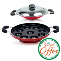 Impex Nonstick Paniyarackal 9 pits with Appachatty Special Combo Offer