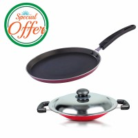 Impex Non Stick Kitchen Set Tawapan and appachaty Special Combo Offer