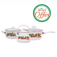 Impex Enamel Ware 3 Pcs Set
