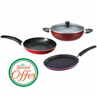 Impex Nonstick 3 Piece Kitchen Set Special Combo Offer