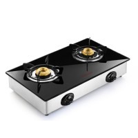 Butterfly Glass Top LPG Stove Reflection 2 Burner- Auto Ignition