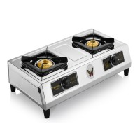 Butterfly Friendly Gas Stove Stainless Steel 2 Burner