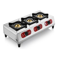 Butterfly Stainless Steel Friendly 3 Burner -Auto Ignition- Gas Stove