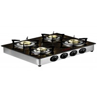Butterfly Glass Top LPG Stove Reflection 4 Burner- Special Edition- Auto Ignition